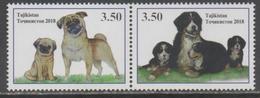 TAJIKISTAN, 2018, MNH, YEAR OF THE DOG, DOGS,2v - Chinese New Year