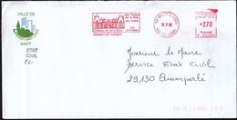 France Boissy St Leger 1998 / Ville De Boissy Saint Leger / Coat Of Arms / Castle / Machine Stamp / EMA - Marcophilie (Lettres)
