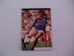 Football Futebol World Cup México 86 Michel Platini Portugal Portuguese Pocket Calendar 1986 - Calendars
