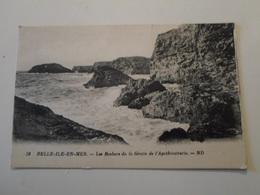 MORBIHAN   Belle-Ile-en-Mer  Les Rochers De La Grotte De L'Apothicatrerie - Belle Ile En Mer