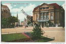 Magdeburg - Zentral-Theater Mit Breiteweg - Wettersäule - Magdeburg
