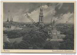 Hamburg - Bismarckdenkmal Und Michaeliskirche - AK-Grossformat - Unclassified