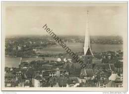 Hamburg - Binnen- Und Außenalster Mit Petrikirche - Foto-AK Grossformat 1931 - Unclassified