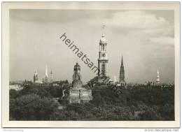 Hamburg - Kirchtürme Und Bismarck-Denkmal - Foto-AK Grossformat - Unclassified