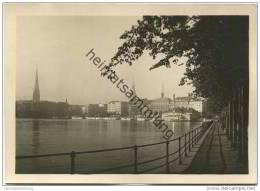 Hamburg - Binnenalster Und Jungfernstieg - Foto-AK Grossformat 40er Jahre - Unclassified