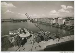 Hamburg - Binnenalster Und Ballindamm - Foto-AK Grossformat 50er Jahre - Unclassified
