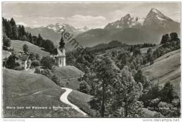 Maria Gern Mit Watzmann Und Steinernem Meer - Foto-AK - Berchtesgaden