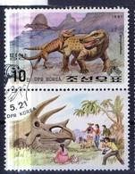 PIA - COREA DEL NORD - 1991 : Fauna Preistorica - (Yv 2224-28) - Korea, North