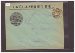 BIENNE - BIEL - GRÜTLI VEREIN  ( RIEN AU DOS ) - 1882-1906 Stemmi, Helvetia Verticalmente & UPU