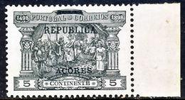 """!■■■■■ds■■ Azores 1911 AF#143** Postage Due W/""""Republica"""" 5 Réis (x12084) - Azores"""
