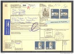 Bulletin D'Expédition - Schweiz / Suisse - Oblitération Zurich 01/09/1980 - Timbres Lucas Et Gustav Adolf Hasler - Lettres & Documents