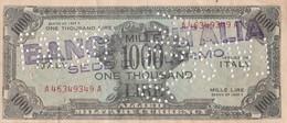 """Banconota - 1000 Lire - One Thousand (valuta Militare Alleati) """"FALSO"""" - [ 8] Falsi & Saggi"""