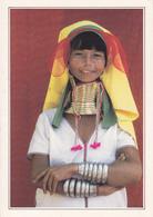 BIRMANIE - FEMME GIRAFE / EXPLICATION AU VERSO - Cartes Postales