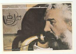 1989 Pioneer ALEXANDER GRAHAM BELL, TELEPHONE Art Scottish Post Office Board Postcard Gb Telecom - Famous People