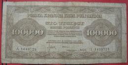 100000 Marek 1923 (WPM 34) - Pologne