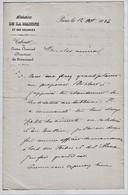 """1886 Lettre Autographiée De """"l'Amiral L Oley"""" Concernant Les Navires Forbid Et L'Alma.  Réf 0542 - Autographs"""