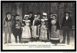 CPA ANCIENNE FRANCE- BOURGES (18)- LES 3 GRANDES JOURNÉES REGIONALISTES DE 1911- LA BRETAGNE- COSTUMES ET COIFFES- - Bourges
