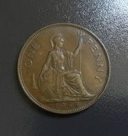 INGHILTERRA - GREAT BRITAIN - 1938 - Moneta 1 PENNY GIORGIO VI , Ottima - 1902-1971 : Monete Post-Vittoriane