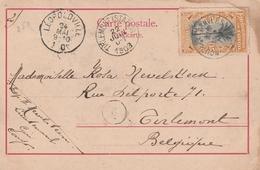 Congo Belge Carte Postale Pour La Belgique 1903 - Belgian Congo