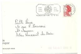 YONNE - Dépt N° 89 = VILLENEUVE Sur YONNE 1988 = FLAMME Type II = SECAP  = 'calme Nature Sports ' - Postmark Collection (Covers)