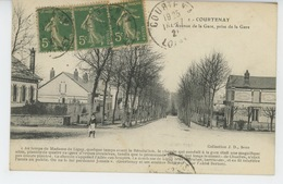 COURTENAY - L'Avenue De La Gare, Prise De La Gare - Courtenay