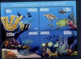 Aruba 2017  Onderwater   Underwater  Blok M/s   Postfris/mnh/neuf - Periode 1980-... (Beatrix)