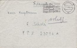 German Feldpost WW2: To Western France - A Captain In Infanterie-Regiment 73 (Stab II) FP 23096A P/m Kassel 5.9.1940 - L - Militaria