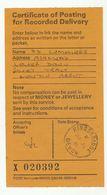 1981 KINGSBRIDGE Cds On RECORDED DELIVERY CERTIFICATE Of Posting GB - 1952-.... (Elizabeth II)