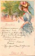 Menu, Carte Postale,Elixir De Spa, Le Parc, Belgique, Art Nouveau    (etat Voir Photos) Dim: 22 X 14. - Menus