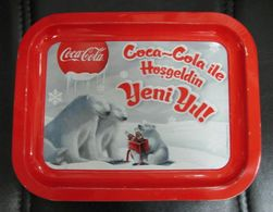 AC - COCA COLA TIN TRAY  POLAR BEAR #15 FROM TURKEY - Bandejas
