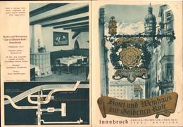 Autriche, Innsbruck, Hotel Und Weinhaus     (etat Voir Photos) Dim: 14.5 X 10.5. - Reiseprospekte