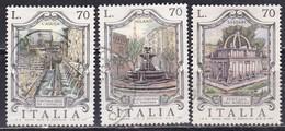 Repubblica Italiana, 1975 - 70 Lire Fontane D'Italia - Nr.1310/1312 Usato° - 1946-.. Republiek