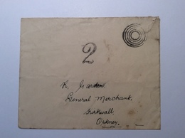 GB Postage Due KIRKWALL 1914 ORKNEY ISLANDS Cover (WW1 1914-18 War Great Britain Brief Lettre Taxé - Tasse