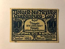 Allemagne Notgeld Quedlinburg 10 Pfennig - [ 3] 1918-1933 : Weimar Republic