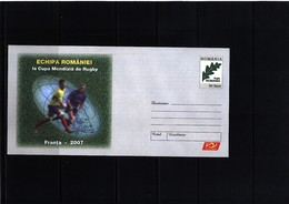 Romania / Rumaenien Rugby Interesting Postal Stationery Letter - Rugby
