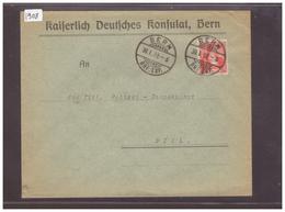 BERN - KAISERLICH DEUTSCHES KONSULAT  ( RIEN AU DOS ) - Storia Postale