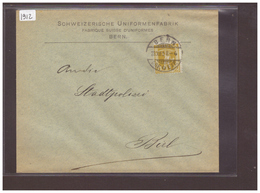 BERN - SCHWEIZ. UNIFORMENFABRIK  ( RIEN AU DOS ) - Storia Postale