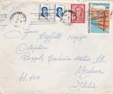 BUSTA  VIAGGIATA  -  ARGENTINA  - DESTINAZIONE MODENA  ( ITALIA ) 1970 - Argentina