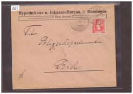 BINNINGEN - HYPOTHEKEN UND INKASSO BUREAU  ( RIEN AU DOS ) - Suiza