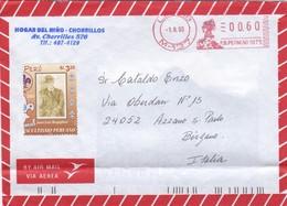 BUSTA  VIAGGIATA  VIA AEREA -  PERU'  - DESTINAZIONE BERGAMO  ( ITALIA ) 2003 - Argentine