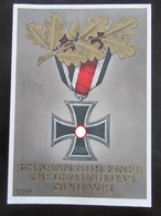 Postkarte Postcard Propaganda EK2 Iron Cross - Helgoland-Marke - Etwas Bügig - Deutschland
