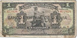 Bolivia 1 Boliviano 11-05-1911 (1929) Pick 112.2.2 Ref 1726 - Bolivia