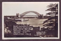 1920s Unused New South Wales Australia Postcard Showing Harbour Bridge Sydney 1 NSW Mowbray Series - Sydney