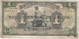 Bolivia 1 Boliviano 11-05-1911 (1929) Pick 112.2.2 Ref 1727 - Bolivia