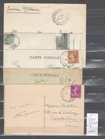 Lettre Avec Cachet Convoyeur Barfleur à Cherbourg - à Valognes Et Retour Dans La Manche -5 Piéces - Correo Ferroviario