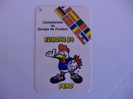 Football Futebol France Euro Cup 1984  Portugal Portuguese Pocket Calendar 1984/1985 - Calendars