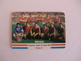 Football Futebol France Euro Cup 1984  Portugal Team Portugal Portuguese Pocket Calendar 1984 - Calendars