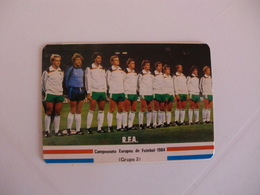 Football Futebol France Euro Cup 1984 Germany Team Portugal Portuguese Pocket Calendar 1984 - Calendars