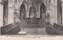 Cp , 22 , TRÉGUIER , Cathédrale, Commencée En 1339, Terminée Au XVe S., Le Chœur Et Les Stalles - Tréguier