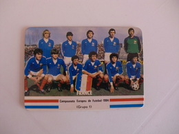 Football Futebol France Euro Cup 1984 France Team Portugal Portuguese Pocket Calendar 1984 - Calendars